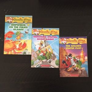 Bundle of 3 Geronimo Stilton books